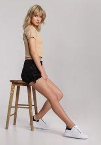 Renee - Czarne Szorty Kimodelia. Stan: podwyższony. Kolor: czarny. Materiał: jeans. Styl: sportowy
