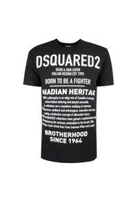 T-shirt DSQUARED2 casualowy, z nadrukiem