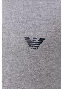 Emporio Armani Underwear - Emporio Armani - Bluza piżamowa. Kolor: szary. Długość: długie