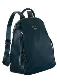 DAVID JONES - Plecak damski turkusowy David Jones 6607-2A PEACOCK BLUE. Kolor: turkusowy. Materiał: skóra ekologiczna