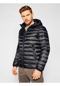 Czarna kurtka zimowa Hetrego
