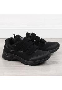 Buty sportowe trekkingowe wodoodporne czarne American Club. Kolor: czarny. Materiał: softshell, materiał