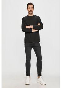 Czarna koszulka z długim rękawem Hugo casualowa, na co dzień