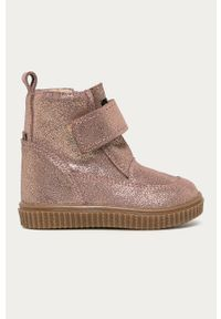 Złote buty zimowe Mrugała z cholewką, na zimę