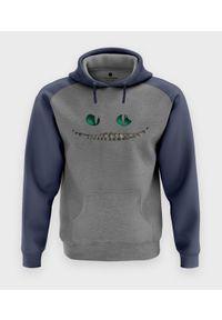 MegaKoszulki - Bluza męska dwukolorowa Cheshire cat