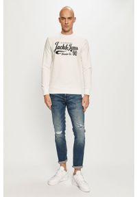 Biała bluza nierozpinana Jack & Jones na co dzień, bez kaptura