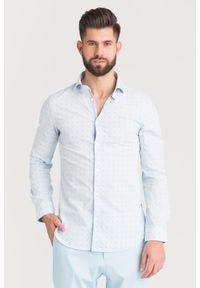 Koszula Guess biznesowa, na co dzień, na lato