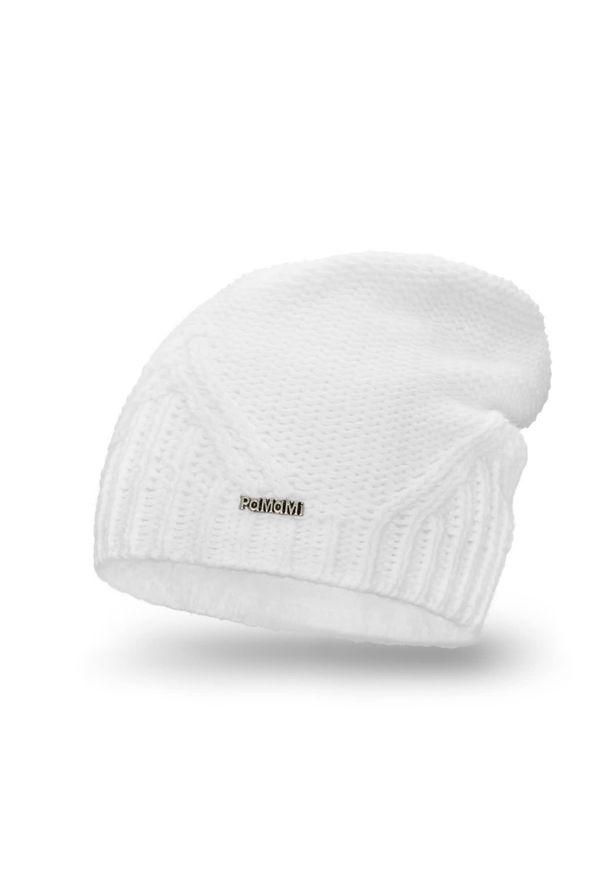 Biała czapka zimowa PaMaMi