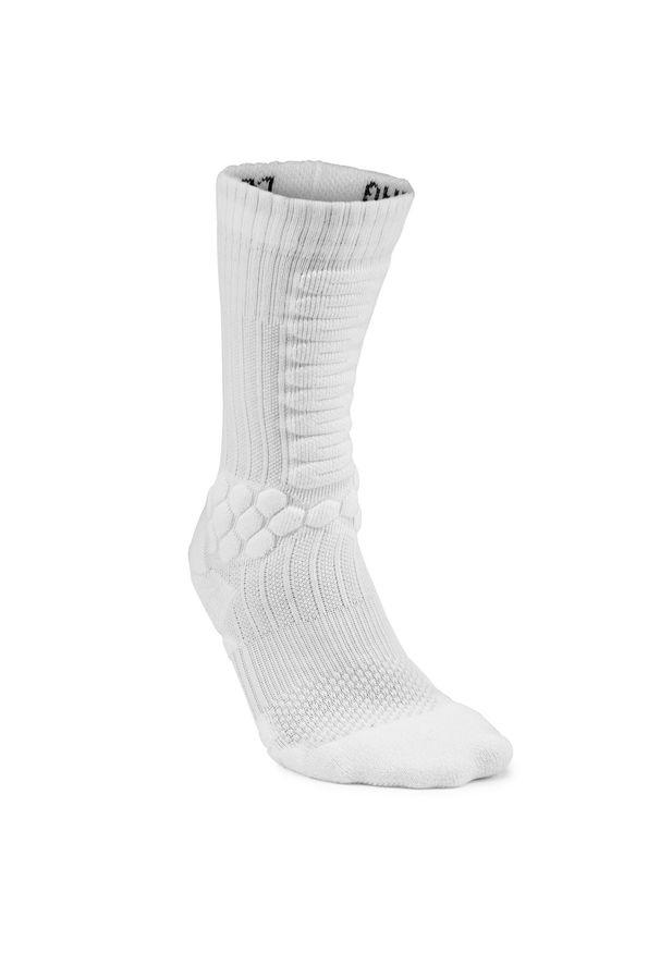 OXELO - Skarpetki Półdługie Na Deskorolkę Socks 500. Kolor: biały. Materiał: elastan, poliamid, bawełna