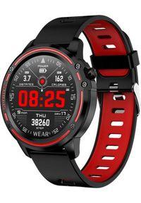 Czerwony zegarek smartwatch