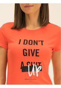 Pomarańczowy t-shirt Armani Exchange
