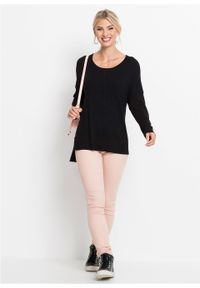 Czarny sweter bonprix długi, z długim rękawem