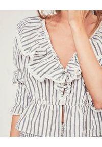 LOVE SHACK FANCY - Bluzka w paski Eloise. Kolor: biały. Materiał: materiał. Wzór: paski. Styl: elegancki