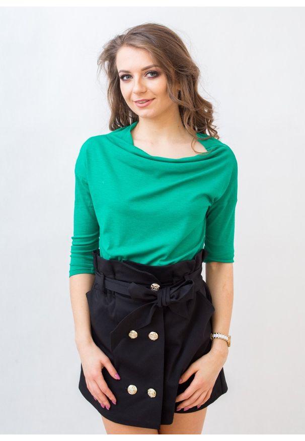 Zielona bluzka Fanaberia.com na jesień