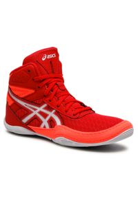 Asics - Buty ASICS - Matflex 6 Gs 1084A007 Red/Flash Coral. Kolor: czerwony. Materiał: materiał, skóra