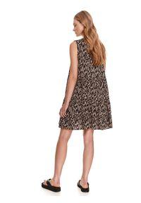 Beżowa sukienka DRYWASH koszulowa, mini