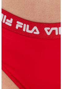 Fila - Strój kąpielowy. Kolor: czerwony. Materiał: dzianina