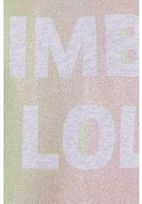 Bimba y Lola - BIMBA Y LOLA - Bluza bawełniana. Okazja: na co dzień. Typ kołnierza: kaptur. Kolor: szary. Materiał: bawełna. Długość rękawa: długi rękaw. Długość: długie. Styl: casual