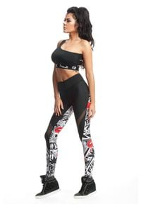 FJ! - Legginsy STICKERS. Materiał: elastan, poliester. Sport: fitness, joga i pilates, taniec
