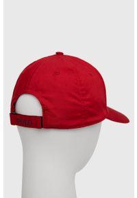 Polo Ralph Lauren - Czapka. Kolor: czerwony. Materiał: poliester