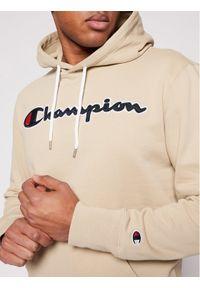 Champion Bluza Satin Script Logo 214183 Beżowy Comfort Fit. Kolor: beżowy