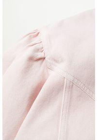 Różowa koszula mango z długim rękawem, długa