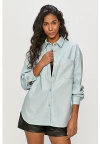 Niebieska koszula TALLY WEIJL długa, gładkie, na co dzień, klasyczna