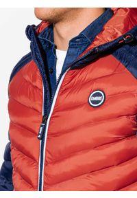 Pomarańczowa kurtka Ombre Clothing na wiosnę