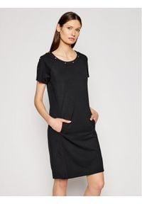Liu Jo Sport Sukienka codzienna TA1123 J6182 Czarny Regular Fit. Okazja: na co dzień. Kolor: czarny. Typ sukienki: proste, sportowe. Styl: sportowy, casual