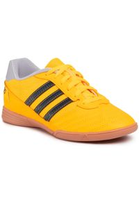 Pomarańczowe buty do piłki nożnej Adidas z cholewką