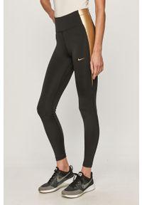 Czarne legginsy Nike z aplikacjami