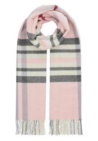 Różowy szalik Lancerto elegancki, na co dzień