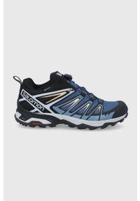 salomon - Salomon - Buty ULTRA 3 GTX. Zapięcie: sznurówki. Kolor: niebieski. Materiał: guma. Technologia: Gore-Tex