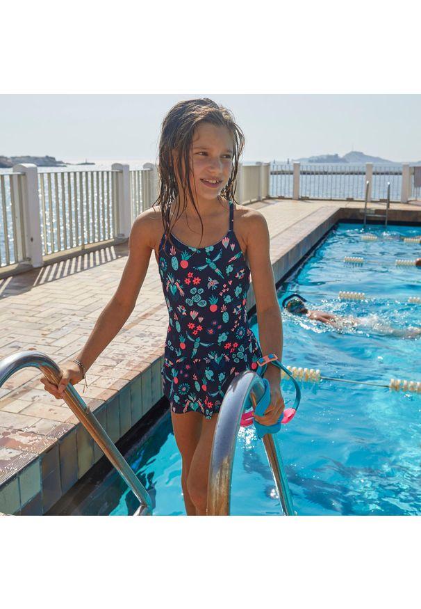 NABAIJI - Strój Jednoczęściowy Pływacki Lila All Omi Dla Dzieci. Materiał: poliester, poliamid, materiał, elastan