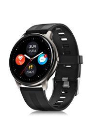 Czarny zegarek Niceboy smartwatch, sportowy