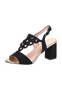Czarne sandały Vinceza klasyczne