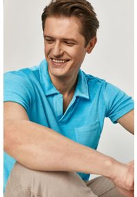 Niebieska koszulka polo Polo Ralph Lauren na co dzień, casualowa