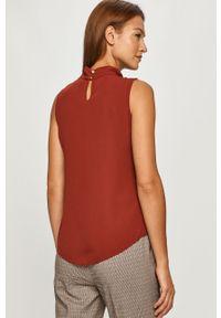 Brązowa bluzka DKNY na co dzień, elegancka
