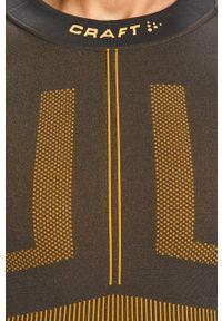 Szara koszulka z długim rękawem Craft z okrągłym kołnierzem