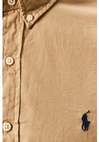 Beżowa koszula Polo Ralph Lauren z długim rękawem, casualowa