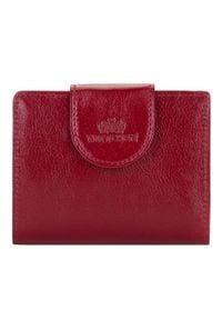 Wittchen - Damski portfel skórzany z elegancką napą. Kolor: czerwony. Materiał: skóra #1