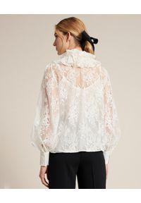 Luisa Spagnoli - LUISA SPAGNOLI - Koronkowa koszula Bodir. Kolor: biały. Materiał: koronka. Długość rękawa: na ramiączkach. Długość: długie. Wzór: koronka, ażurowy
