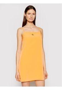 Calvin Klein Jeans Sukienka codzienna J20J215669 Pomarańczowy Regular Fit. Okazja: na co dzień. Kolor: pomarańczowy. Typ sukienki: proste. Styl: casual