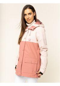 Różowa kurtka narciarska DC
