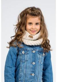 PaMaMi - Ciepły zimowy komin dziecięcy na raz - tuba - Khaki. Kolor: brązowy. Materiał: poliamid, akryl. Sezon: zima