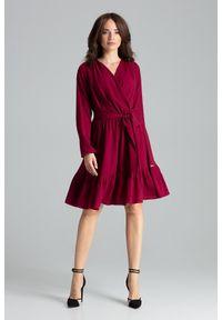 Sukienka koktajlowa midi, boho