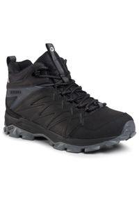 Czarne buty trekkingowe Merrell z cholewką, trekkingowe