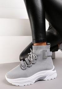 Renee - Szare Sneakersy Kayla. Kolor: szary