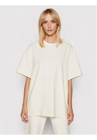 Samsoe & Samsoe - Samsøe Samsøe T-Shirt Undyed W F21200019 Beżowy Oversize. Kolor: beżowy #1