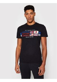 Napapijri T-Shirt Silea Czarny Regular Fit. Kolor: czarny